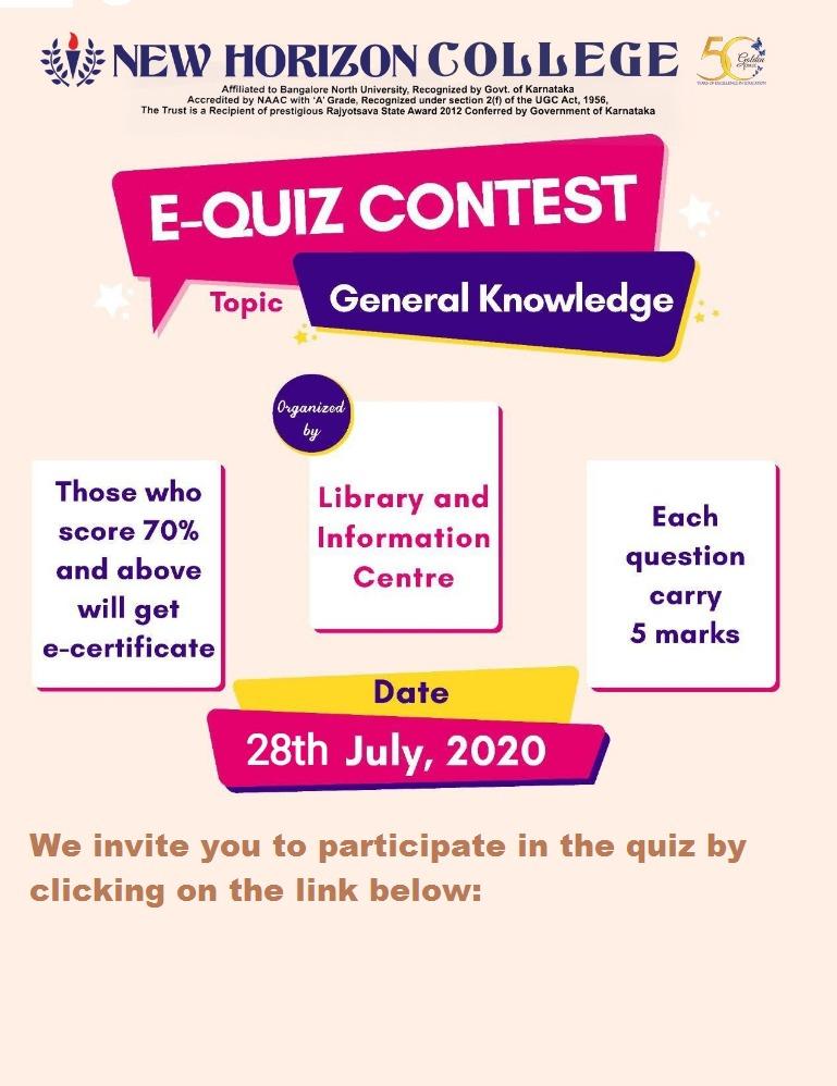E-Quiz Contest on General Knowledge